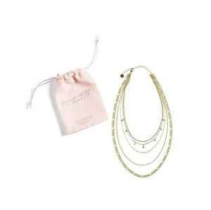 Jules Smith Layered Necklace Gold Plated Brass